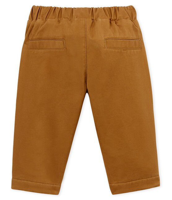 Pantalon doublé polaire bébé gaçon marron Brindille