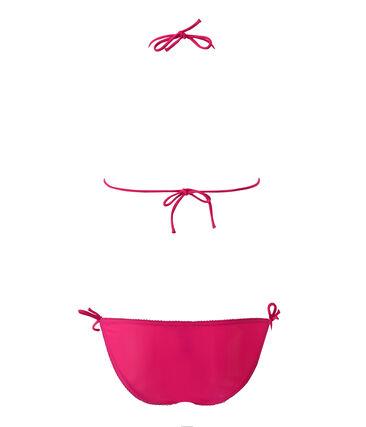 Maillot de bain femme 2 pièces uni rose Petunia