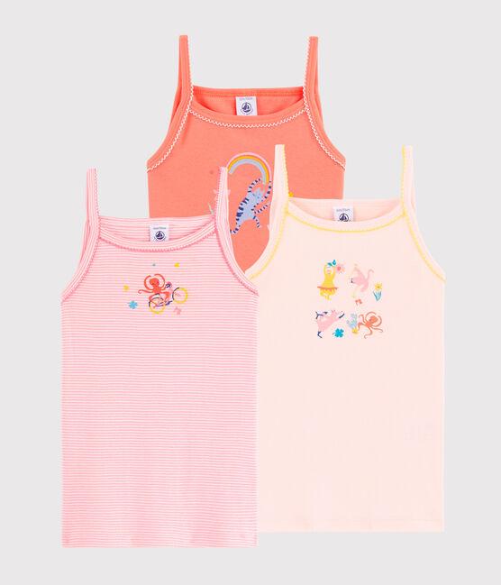 Lot de 3 chemises à bretelles animaux yoga petite fille lot .