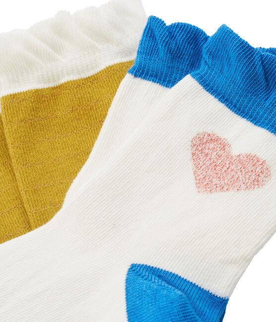 Lot de 2 paires de chaussettes enfant fille lot .