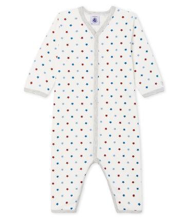 Dors bien sans pieds bébé garçon en tubique blanc Marshmallow / blanc Multico Cn