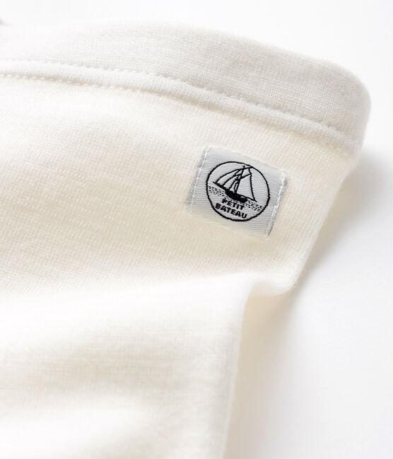 Caleçon bébé en laine et coton blanc Marshmallow