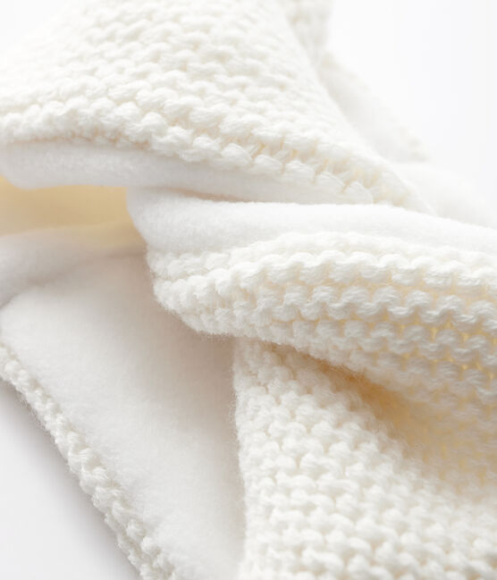 Snood uni bébé fille blanc Marshmallow