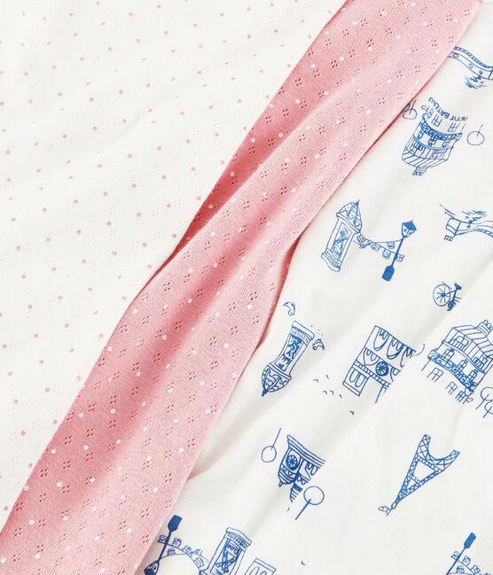 Lot de 2 pyjamas petite fille en côte lot .