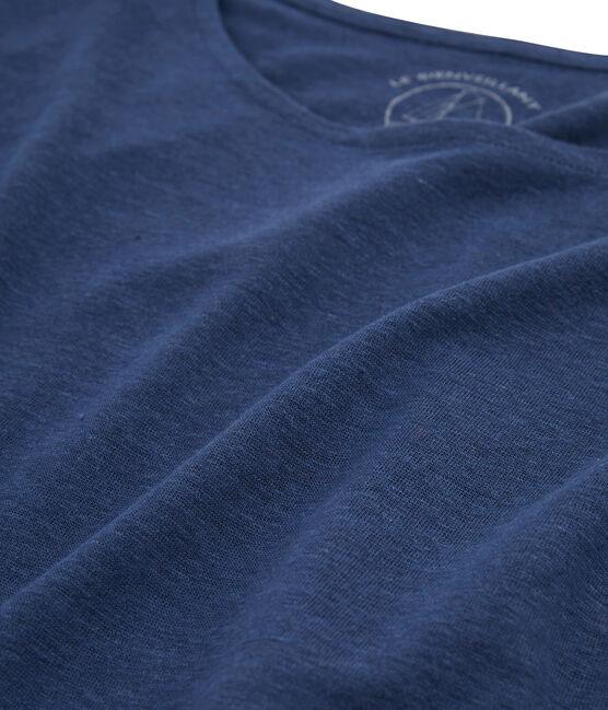 Tee shirt lin femme bleu Medieval