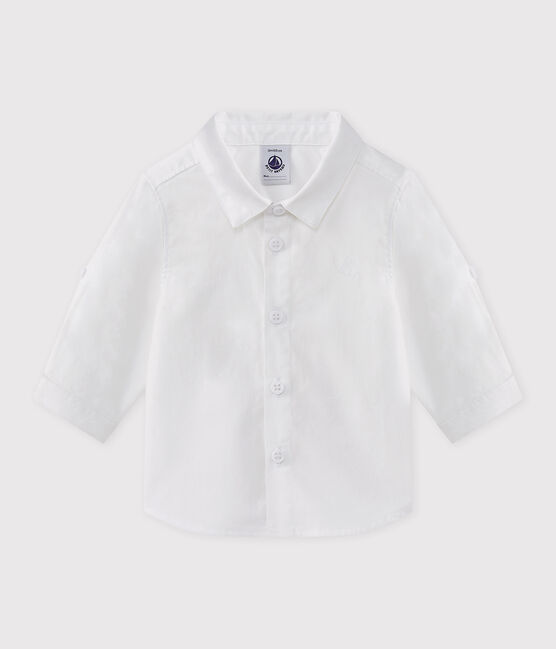 Chemise cérémonie bébé garçon blanc Ecume