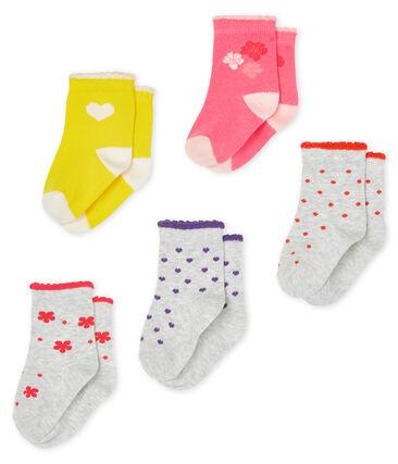 Lot de 5 paires de chaussettes bébé fille lot .