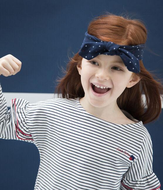 Bandeau enfant fille bleu Haddock / blanc Multico