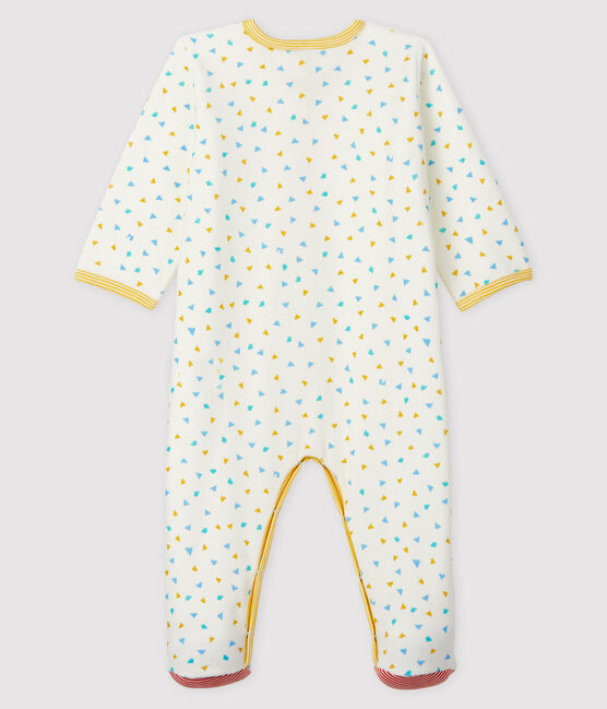 Dors-bien imprimé confettis bébé en velours blanc Marshmallow / blanc Multico