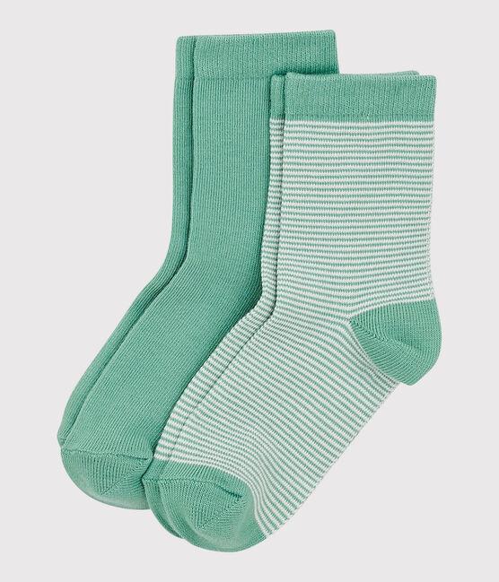 Lot de 2 paires de chaussettes enfant fille-garçon lot .