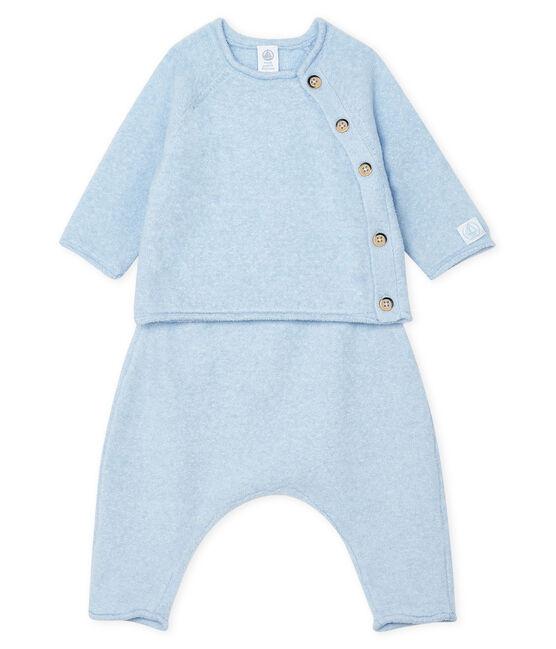 Ensemble deux pièces bébé en coton, laine mérinos et polyester TOUDOU