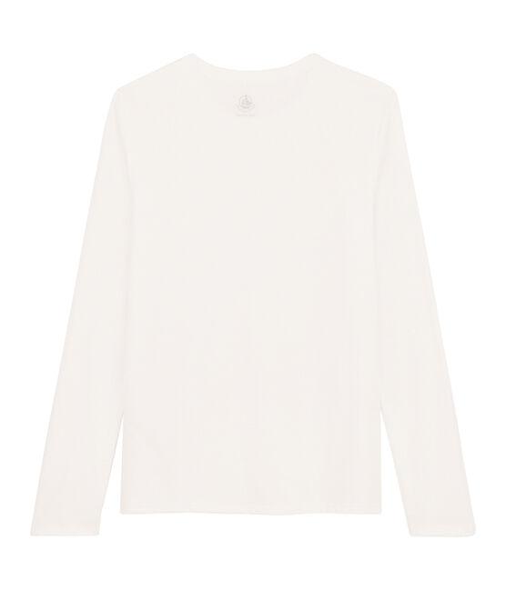 Tee shirt coton Sea island femme blanc Marshmallow