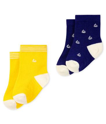 Lot de 2 paires de chaussettes bébé garçon bleu Touareg