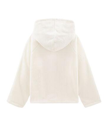 Sweatshirt polaire moutonné enfant fille blanc Marshmallow