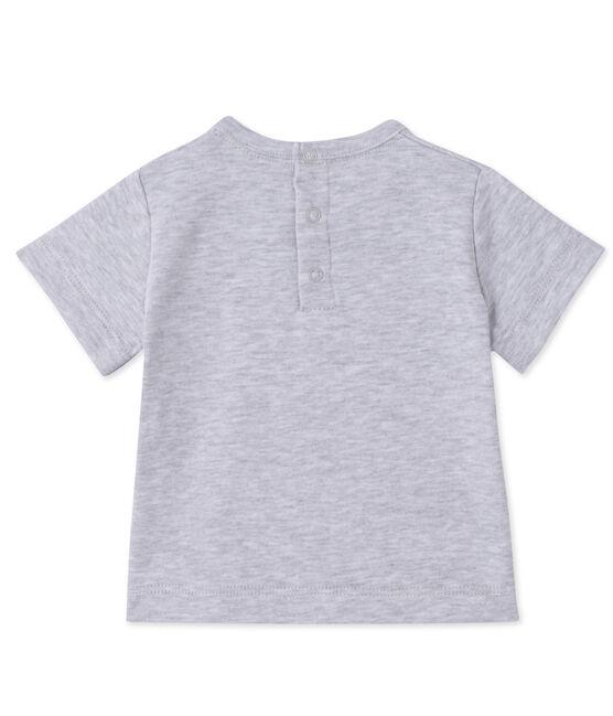 T-shirt bébé garçon sérigraphié gris Poussiere Chine
