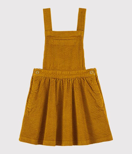 Robe salopette enfant fille jaune Topaze