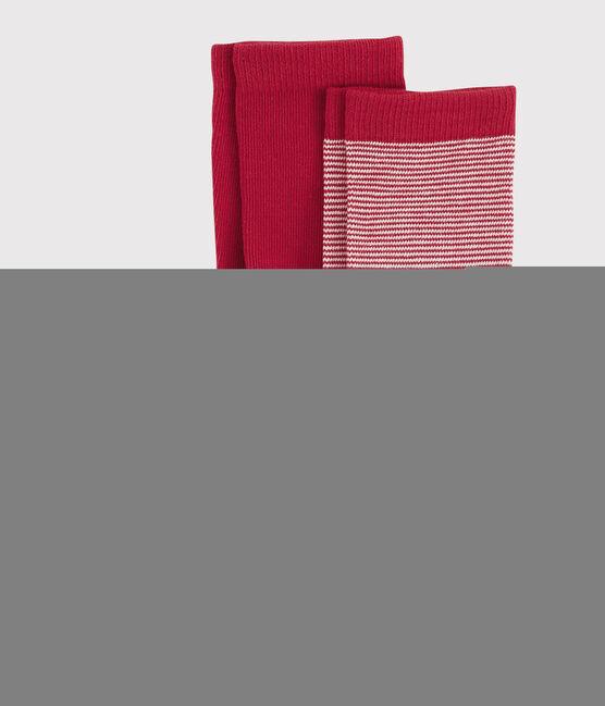 Lot de paires de chausettes garçon rouge Terkuit