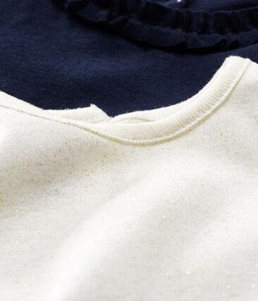 Lot de 2 tee shirts manches longues bébé fille