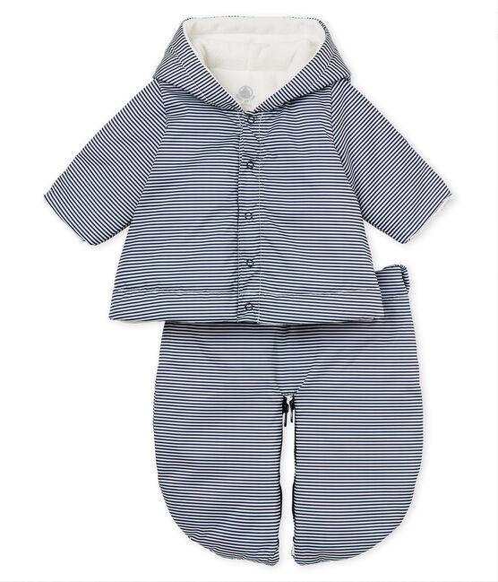 Combipilote 3 en 1 bébé mixte bleu Smoking / blanc Marshmallow