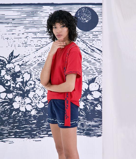 Tee shirt Femme/Homme Christoph Rumpf x Petit Bateau rouge Terkuit