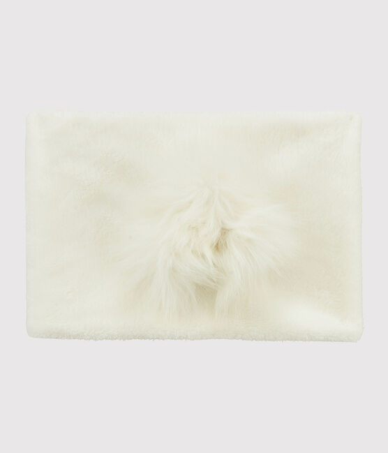 Snood enfant fille blanc Marshmallow