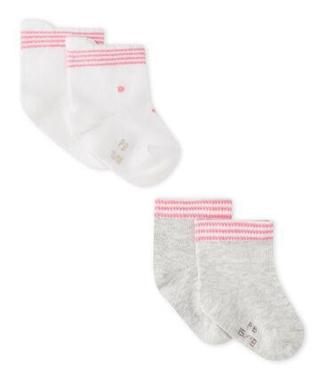Lot de 2 paires de chaussettes bébé mixtes lot .