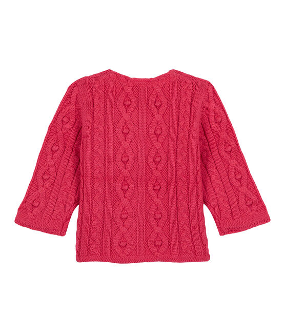 Cardigan torsadé rose Impatience