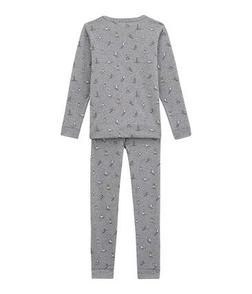 Pyjama petit garçon coupe ajustée gris Subway / blanc Multico