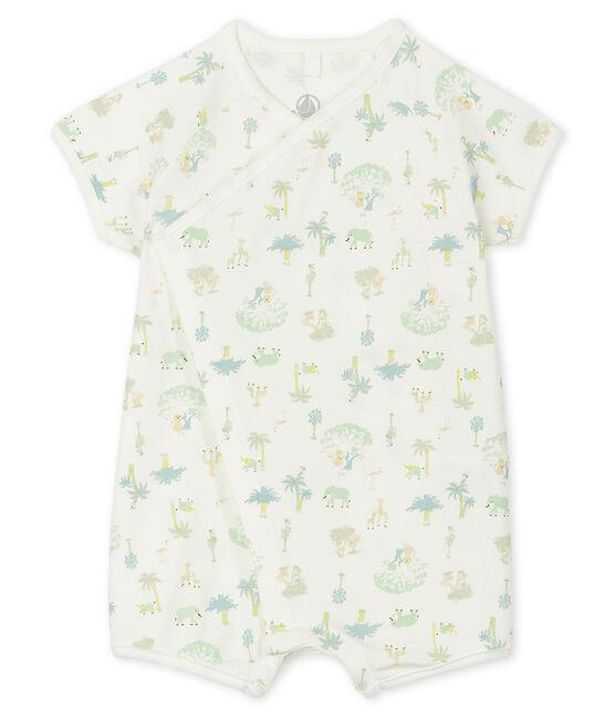Combicourt bébé mixte en côte blanc Marshmallow / vert Amandier