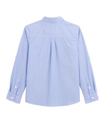 Chemise à rayures enfant garçon bleu Bleu / blanc Blanc