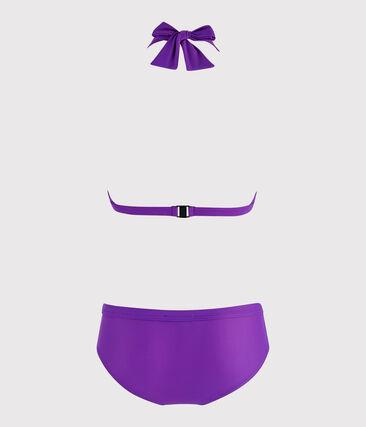 Maillot de bain 2 pièces écoresponsable femme violet Real