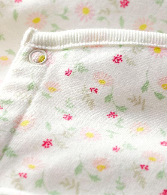 Combicourt bébé mixte en côte blanc Marshmallow / blanc Multico
