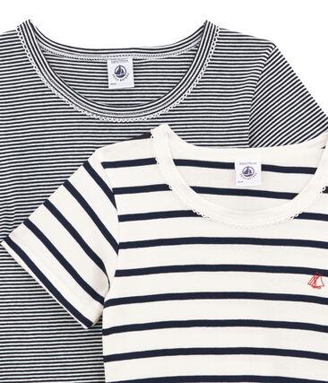 Duo de tee-shirts manches courtes fille