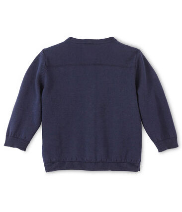 Cardigan bébé fille en coton bleu Smoking