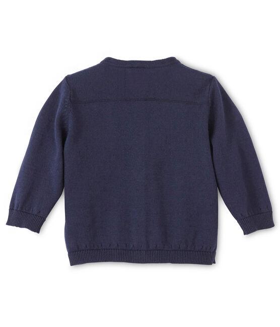 Cardigan bébé fille en coton bleu Smoking