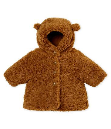 Manteau sherpa bébé mixte marron Brindille