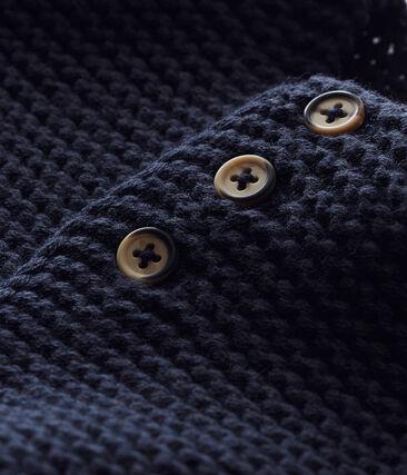 Cardigan point mousse bébé mixte bleu Smoking