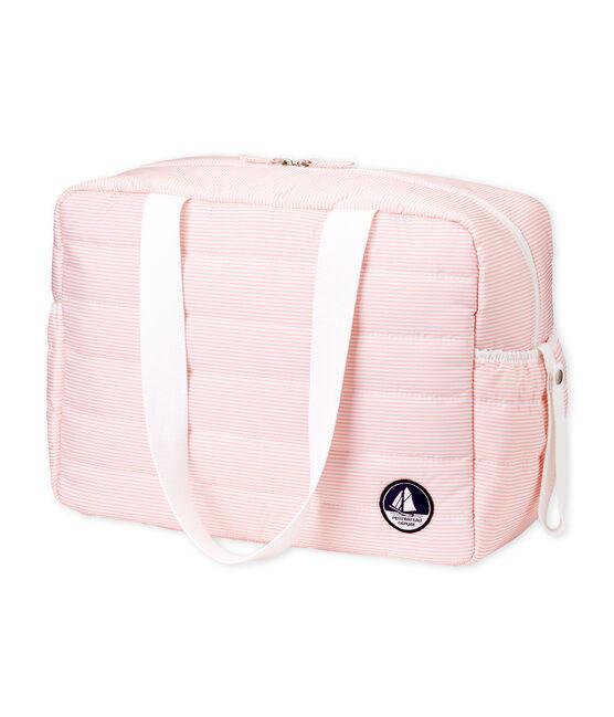 Sac à langer bébé mixte milleraies rose Rosako / blanc Marshmallow