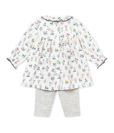 Robe bébé fille en tubique imprimé + legging