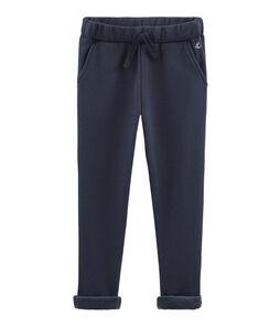Pantalon molleton chaud enfant garçon bleu Smoking