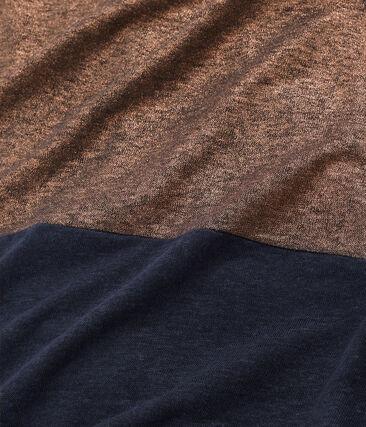 Robe manches courtes femme en lin naturel irisé