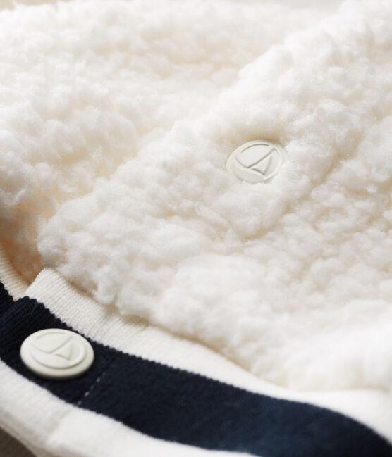 Cardigan bébé mixte en sherpa moutonnée blanc Marshmallow