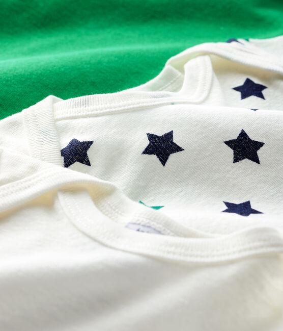 Trio de bodies manches courtes bébé garçon en lin/coton lot .