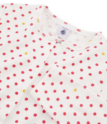 Cardigan enfant fille blanc Marshmallow / blanc Multico
