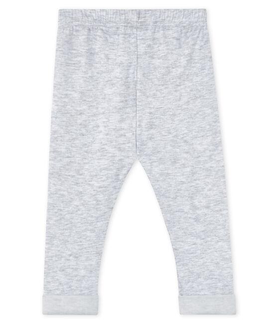 Pantalon bébé garçon gris Poussiere / blanc Lait