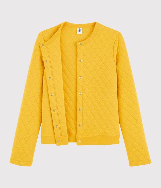 Cardigan en tubique Femme jaune Boudor