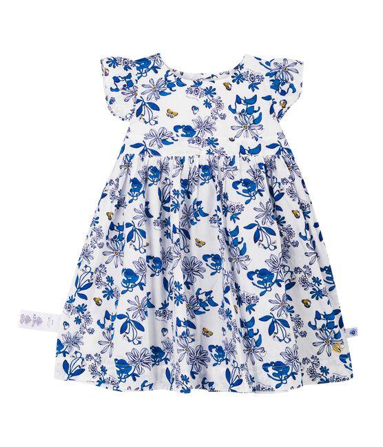 Robe mc imprimee bebe fille blanc Marshmallow / blanc Multico Cn