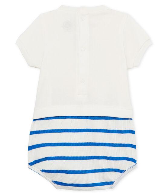 Combicourt bébé garçon blanc Marshmallow / bleu Cool