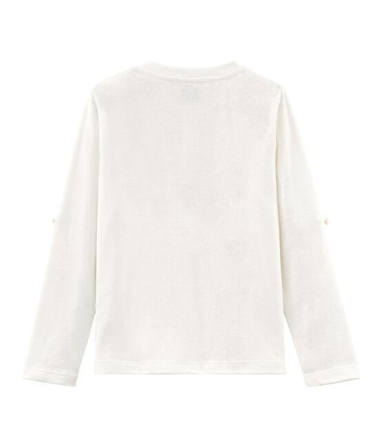 Tee-shirt manches longues enfant garçon blanc Marshmallow