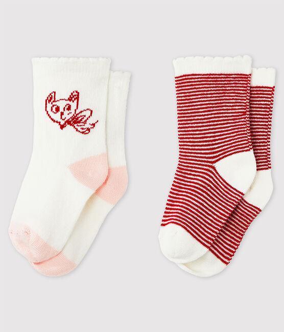 Lot de 2 chaussettes à motif bébé fille lot .